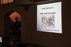 O jazde v stredovekom vojsku prednášala Mgr. Petra Šimončičová Koóšová, PhD.