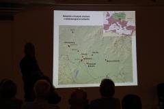 Mapa nálezísk s rímskymi stavbami v stredodunajskom barbariku.