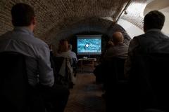 Pred začatím prednášky si navštevníci mohli pozrieť krátky film o rímskych pamiatkach na území Slovenska.